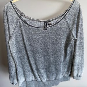 off the the shoulder sweater tee
